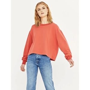 Project Social T Say Boxy Sweatshirt in Strawberry